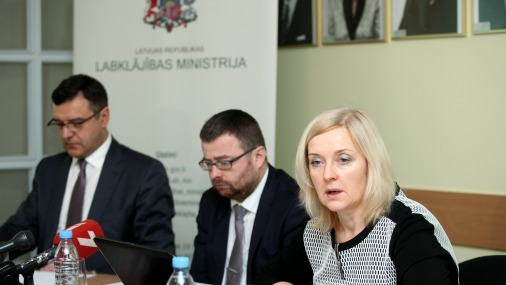 Пресс-конференция в министерстве благосостояния.