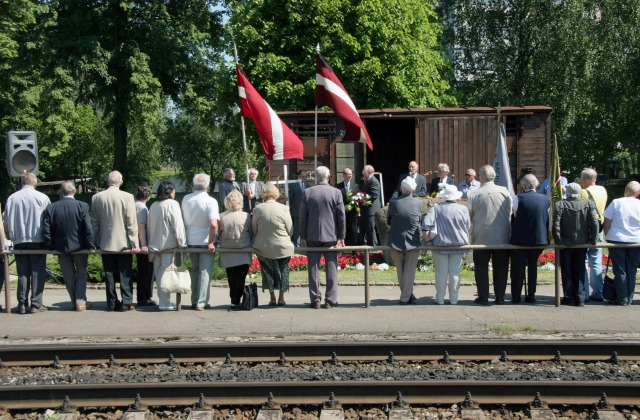 Каждый год на станции Торнякалнс проходят памятные мероприятия