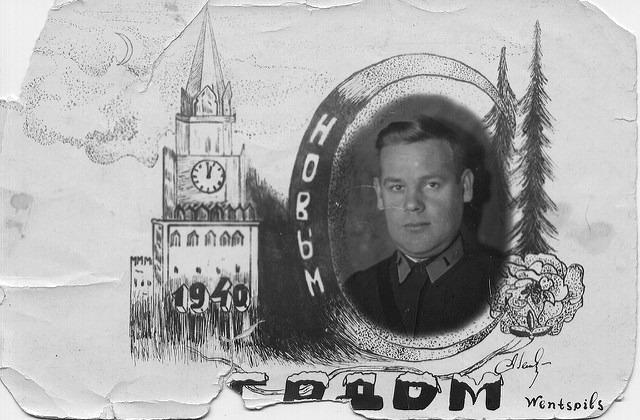 Иллюстративное фото. Фотокопия новогодней открытки, отправленной советским летчиком из Латвии