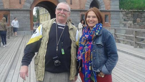 Лина вместе с мужем Клаусом во время приезда в Даугавпилс