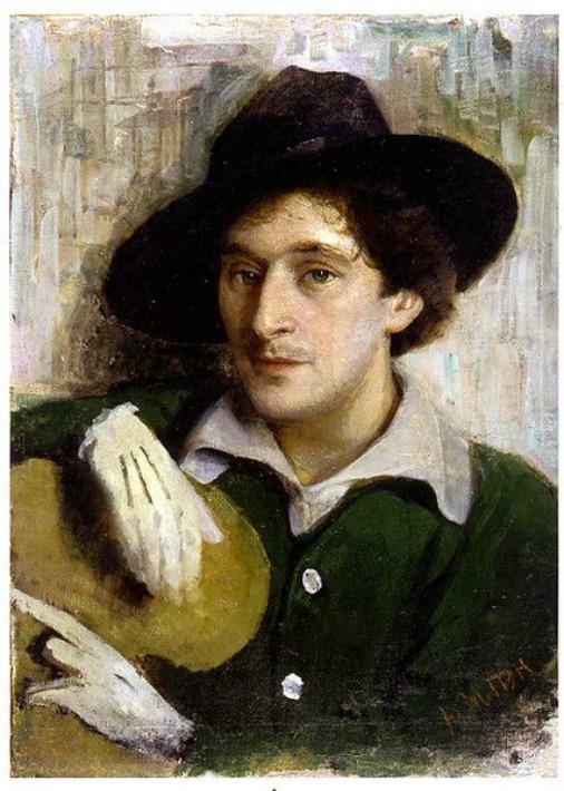 Таким запечатлел молодого Марка Шагала художник Юрий Пэн
