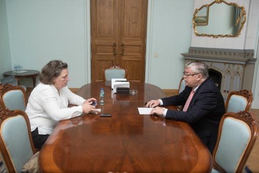 Разговор с послом России в Латвии у нас получился долгий