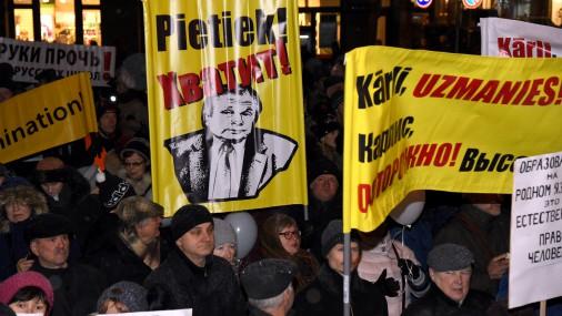 Рига готовится кновым протестам взащиту образования нарусском языке