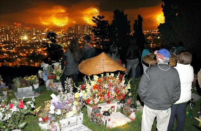 Новогодняя ночь на кладбище (Чили)