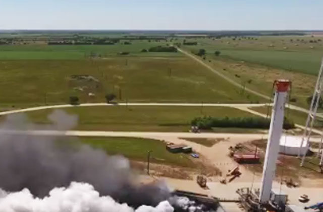 SpaceX провела первые огневые испытания центрального блока сверхтяжелой ракеты