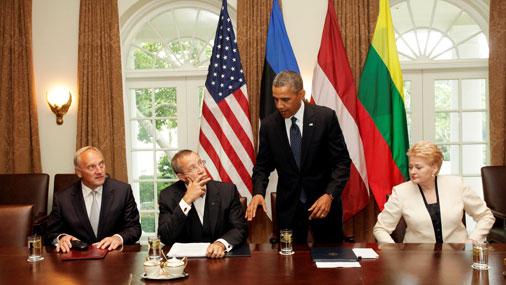 Встреча лидеров стран Балтии с президентом США Бараком Обамой