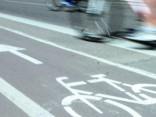 Велополосы в центре Риги: 13 велосипедистов за полчаса