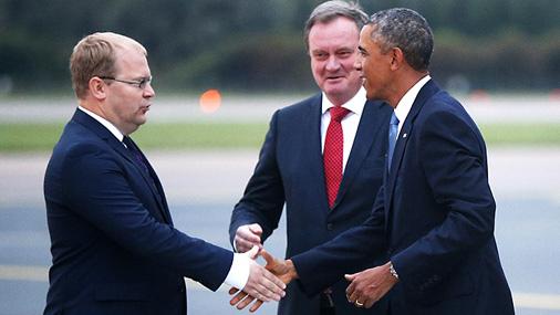 Президент США Барак Обама прибыл в Таллинн
