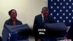 Парень попросил Обаму не трогать его девушку, но тот все равно ее поцеловал
