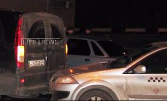 Дорожные полицейские выставили «живой щит» из 8 машин