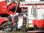 В центре Риги загорелся автомобиль