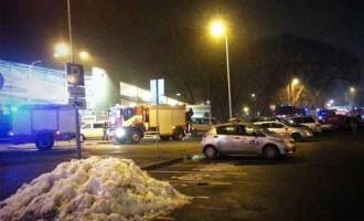 Трещина в потолке в торговом центре Mols: людей эвакуировали