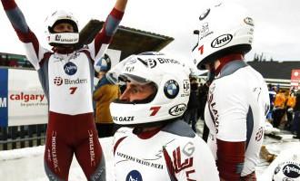 Экипаж Мелбардиса победил на этапе Кубка мира в соревнованиях четверок