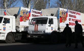 Колонны с гуманитарной помощью прибыли в Донецк и Луганск
