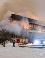 Страшный пожар в библиотеке Москвы с трудом ликвидирован
