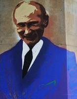 На мосту Дружбы вместо портрета президента Эстонии - Путин