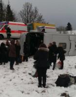 В Пярнуском уезде в аварию попал автобус