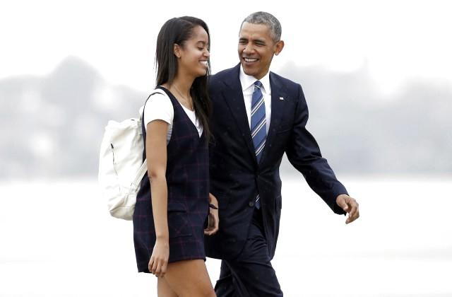 Дочь Обамы увидели закурением травки— «Косяк» отца