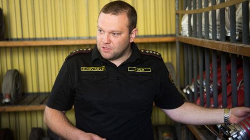 Командир 5-й части Рижского регионального управления ГПСС Дмитрий Новиков