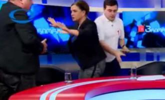 Грузинские политики подрались из-за России
