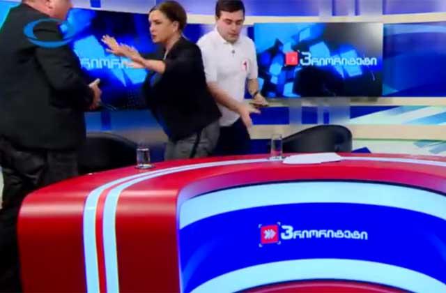ВГрузии претенденты в народные избранники подрались впрямом эфире