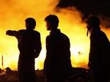 Ночью в Калнциемсе бушевали пожары