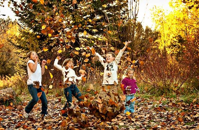 Золотая осень картинки с домами с природой