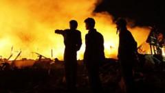 В Эстонии пожар уничтожил целый завод