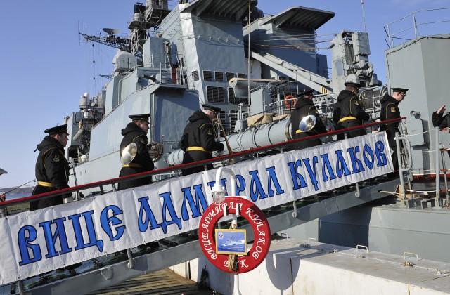 Британский флот уходит навстречу российскому кораблю «Вице-адмирал Кулаков»