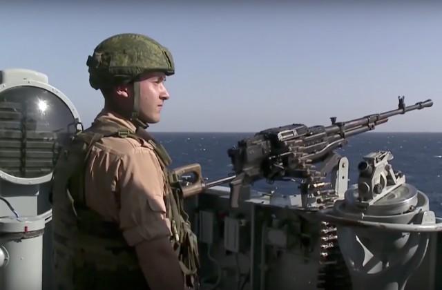 Вооружённые силы Латвии вновь увидели русский корабль у собственных границ