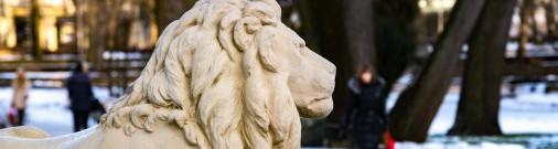 Верманский парк: почему каменных львов посадили за решетку?