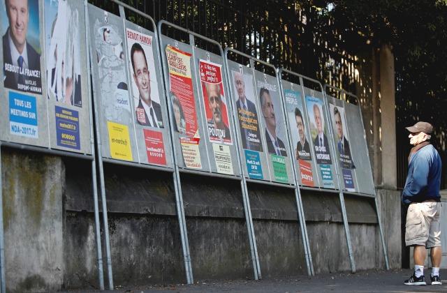 До выборов - несколько дней. Постеры кандидатов в президенты