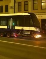 В Риге замечен первый из 20 новых низкопольных трамваев