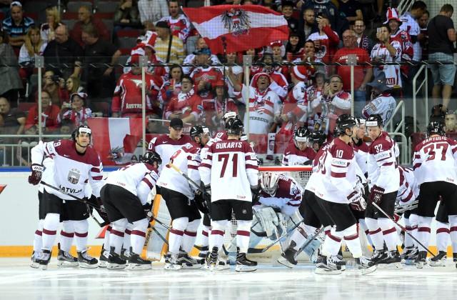 Сборная Латвии обыграла Данию вматче чемпионата мира похоккею