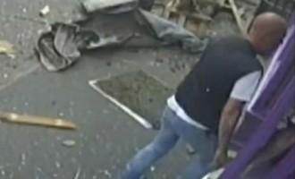 Настоящий мужчина: в него влетел двухэтажный автобус, он встал, отряхнулся и пошел.. в паб!