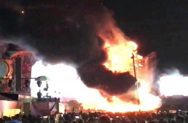 Намузыкальном фестивале вБарселоне наглазах 22 тыс. человек вспыхнула сцена