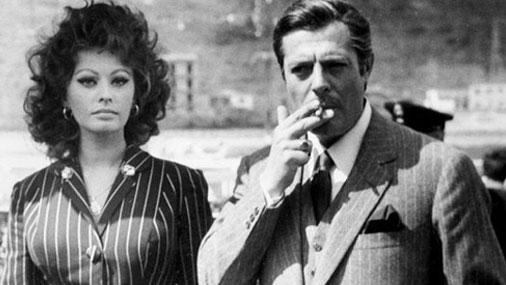 Фото: Софи Лорен и Марчелло Мастрояни в фильме Брак по-итальянски 1964 г