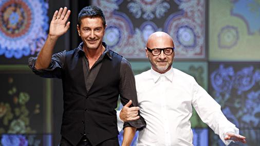 Mode-ontwerpers Domenico Dolce en Stefano Gabbana moeten in Italië