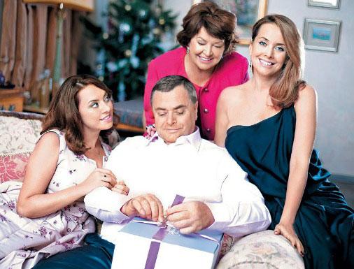 Жанна с мамой, папой и сестрой