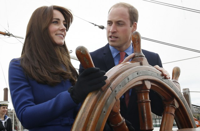 Принца Джорджа впервый раз сняли для почтовой марки