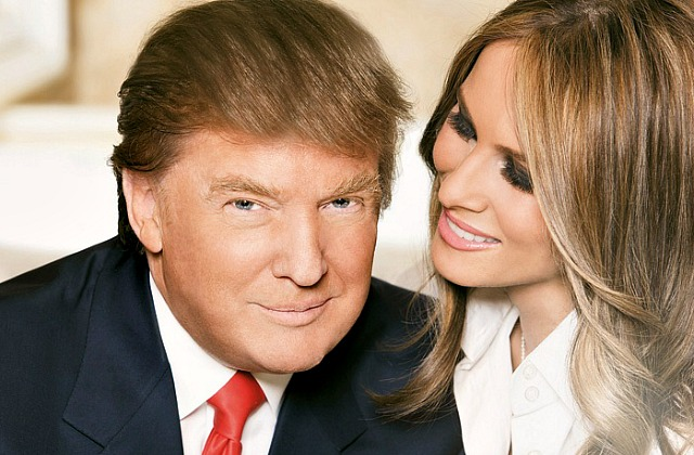 Дональд Трамп с супругой Меланией