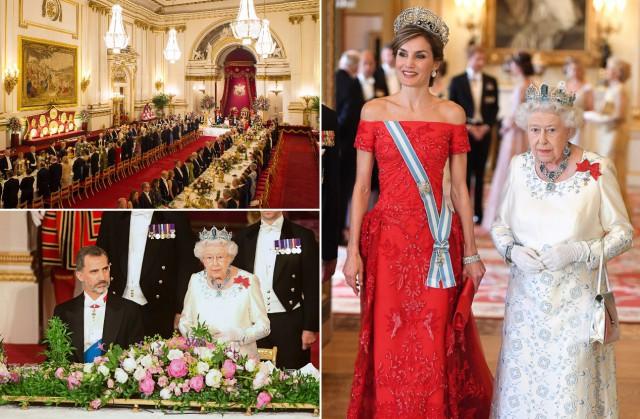 Кейт Миддлтон влюбимой тиаре принцессы Дианы иврозовом кружевном одеяние